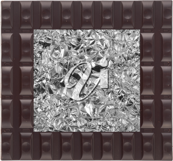 Background foil and chocolate