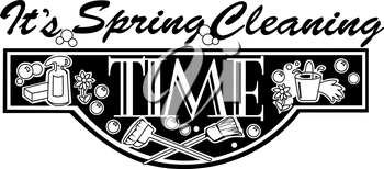 Royalty Free Clipart Image of a Spring Cleaning Ad