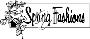 Royalty Free Clipart Image of a Spring Fashions Banner