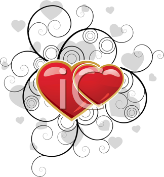 Royalty Free Clipart Image of a Fancy Heart