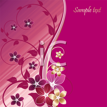 Royalty Free Clipart Image of a Floral