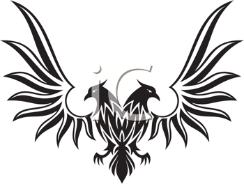 Royalty Free Clipart Image of a Bird Symbol
