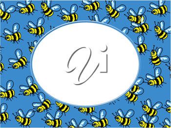Royalty Free Clipart Image of a Bumblebee Border