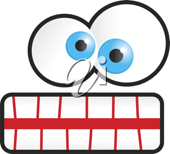 Royalty Free Clipart Image of a Cartoon Face