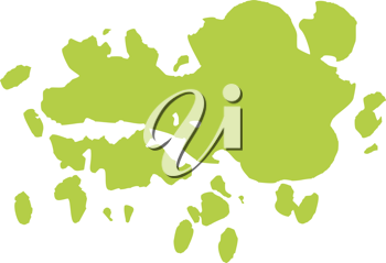 Royalty Free Clipart Image of Green Ink Splatter