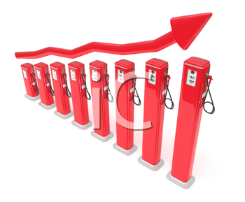 Royalty Free Clipart Image of a Fuel Market Chart