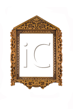 Wooden Frame for picture or portrait isolated over white background