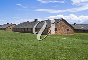 Barracks for women in Auschwitz-Birkenau concentration camp, Poland