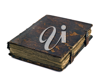 Very old vintage book isolated on the white