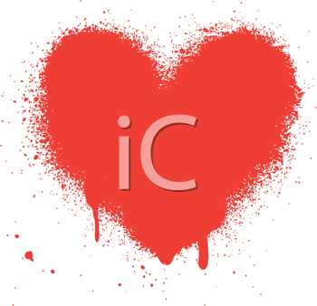 Royalty Free Clipart Image of a Dripping Heart