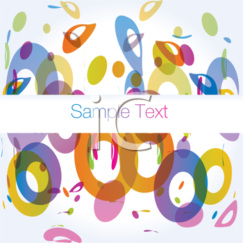 Royalty Free Clipart Image of a Circle Background With Space for Text