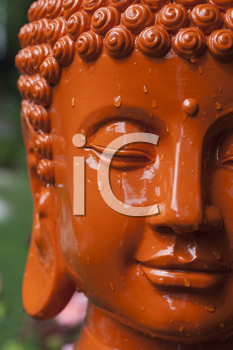 Royalty Free Photo of an Orange Buddha Head