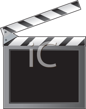 Royalty Free Clipart Image of a Clapper