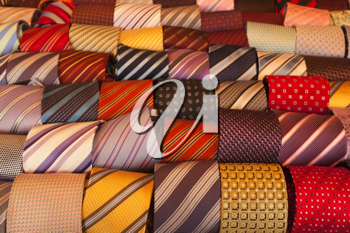 Neckties on sale at the department store.