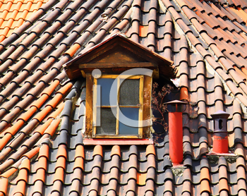 roof of the old Prague house