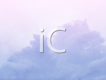 soft sky pink background with clouds