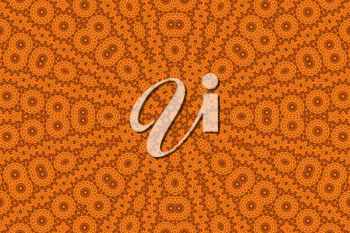 Orange background with abstract pattern