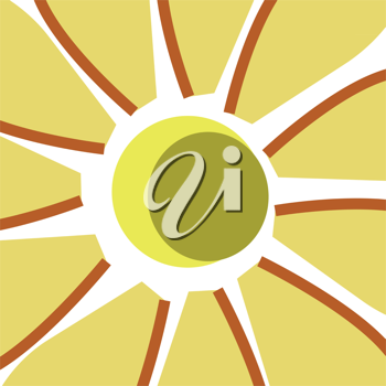 Royalty Free Clipart Image of a Sun Design