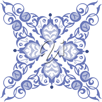 Royalty Free Clipart Image of a Four Pointed Design
