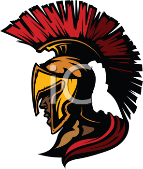 Royalty Free Clipart Image of a Spartan Head