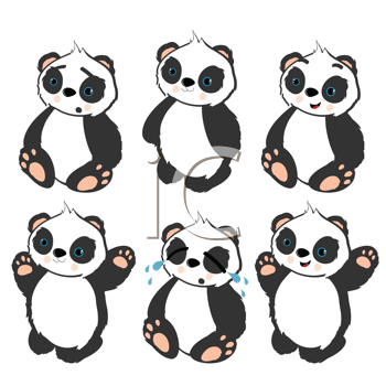 Royalty Free Clipart Image of Panda Bears