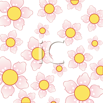 Royalty Free Clipart Image of a Cherry Blossom Background
