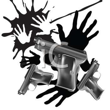Royalty Free Clipart Image of an Abstract Handgun Background