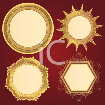 Royalty Free Clipart Image of Elegant Frames
