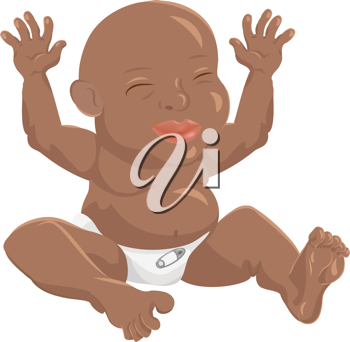 Royalty Free Clipart Image of a Baby