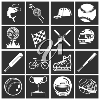 Royalty Free Clipart Image of Sport Icons