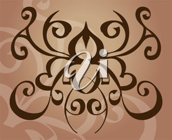 Royalty Free Clipart Image of a Tribal Style Design