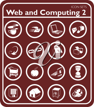 Royalty Free Clipart Image of Web and Computing Icons