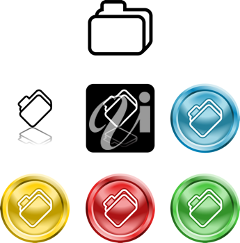 Royalty Free Clipart Image of Folder Icons