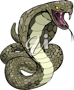 Royalty Free Clipart Image of a Snake Illustration
