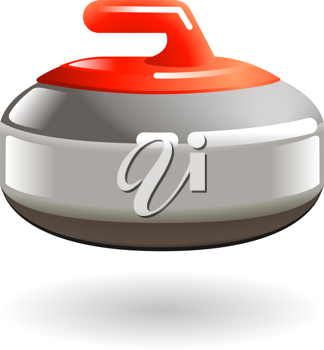 Royalty Free Clipart Image of a Curling Stone
