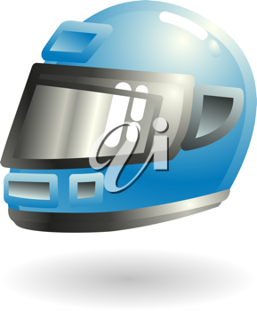 Royalty Free Clipart Image of a Motorcycle Helmet
