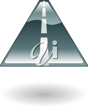 Royalty Free Clipart Image of a Road