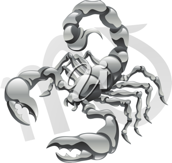 Royalty Free Clipart Image of a Scorpio Scorpion