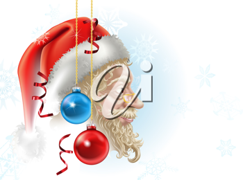 Royalty Free Clipart Image of a Santa Claus Background
