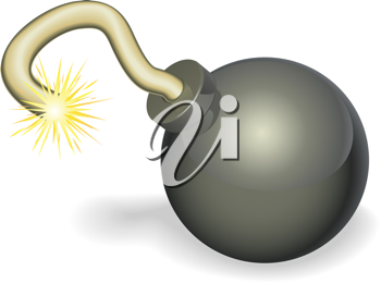 Royalty Free Clipart Image of a Cherry Bomb