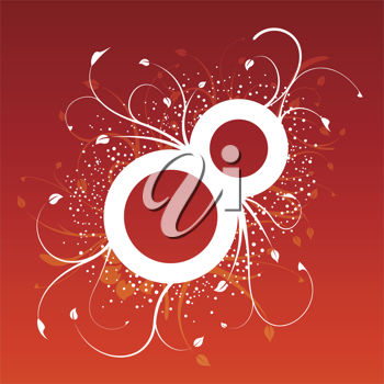 Royalty Free Clipart Image of an Eight With Flourishes