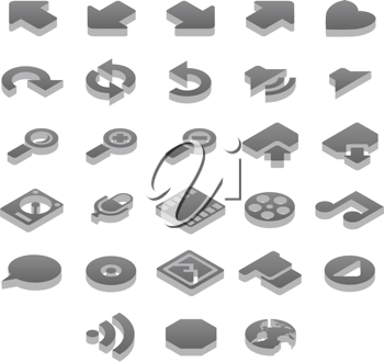 Royalty Free Clipart Image of a Set of Icons
