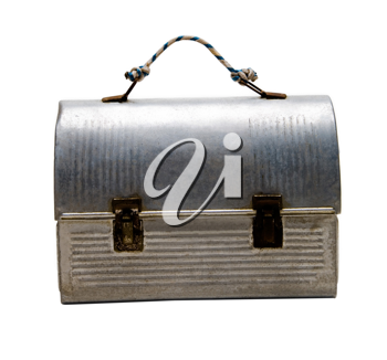 Royalty Free Photo of an Aluminum Lunch Pail