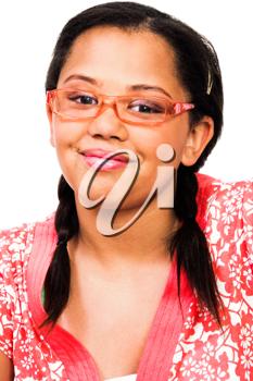 Royalty Free Photo of a Teenage Girl Wearing Glasses