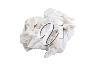 Close-up of crumpled toilet paper