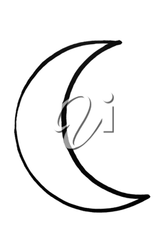 Outline of crescent moon