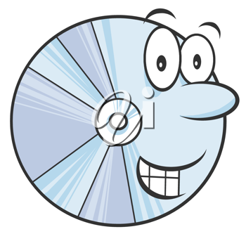 Royalty Free Clipart Image of a Pie Chart Wheel