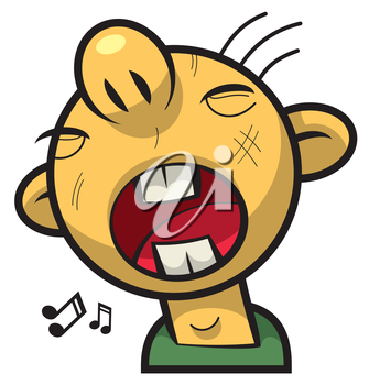 Royalty Free Clipart Image of a Guy Singing