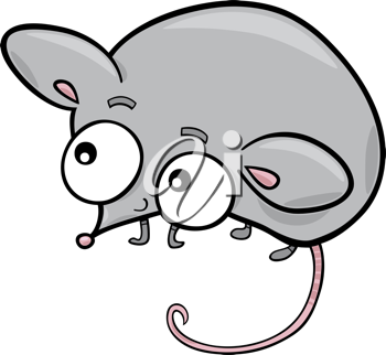 Royalty Free Clipart Image of a Little Mouse