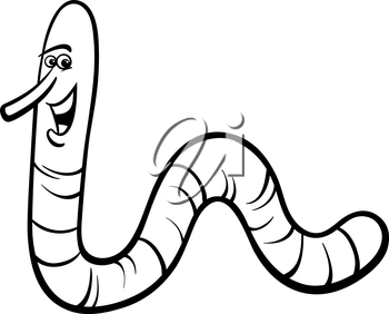 Royalty Free Clipart Image of an Earthworm